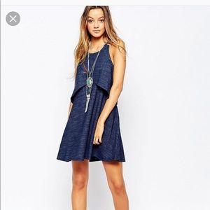 Free People Novelty Sapphire blue sleeveless dress